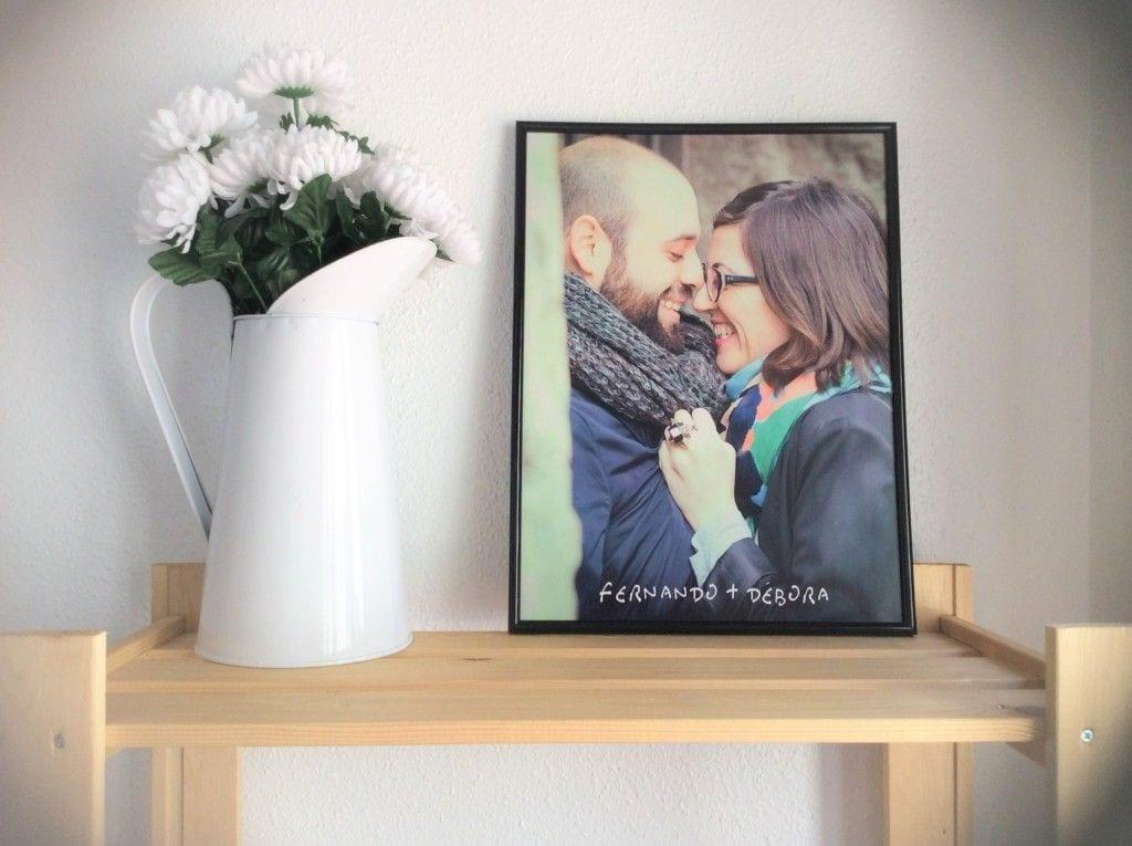 lamina para regalar en las bodas de papel con foto de la preboda