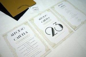 Papeleria para Boda Vintage tipo Gatsby y Años 20
