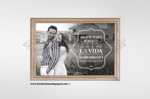 Lamina con Foto y Frase Personalizada para Regalar
