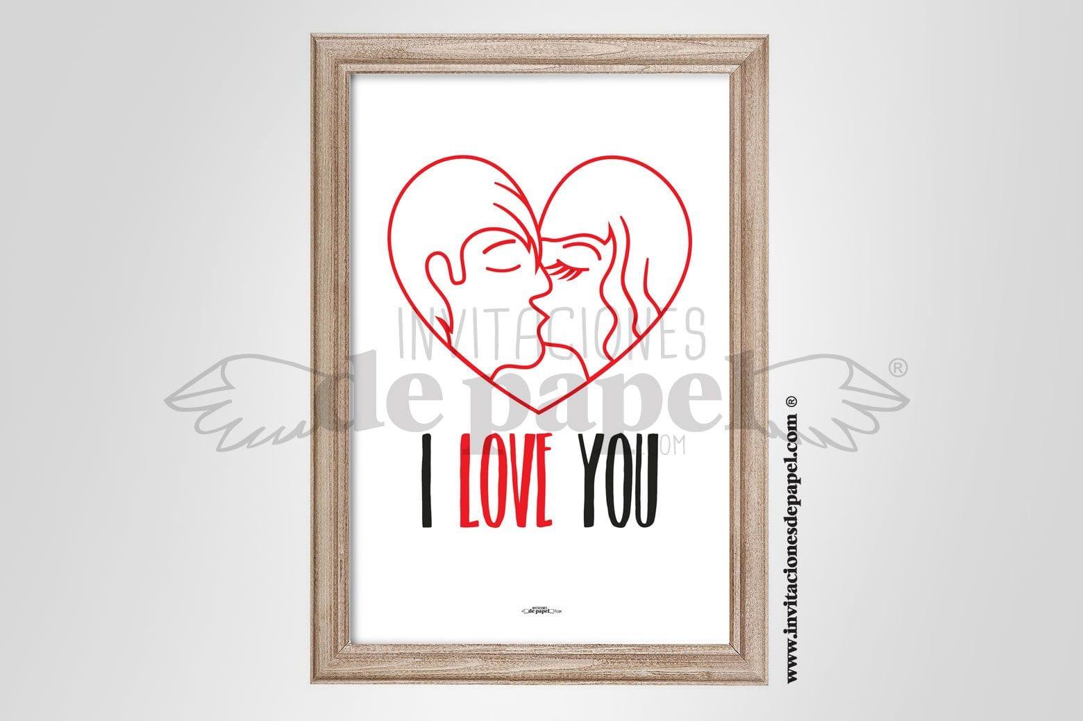 Laminas con Mensaje de Amor como Regalos Romanticos y Originales para Pareja - para dos