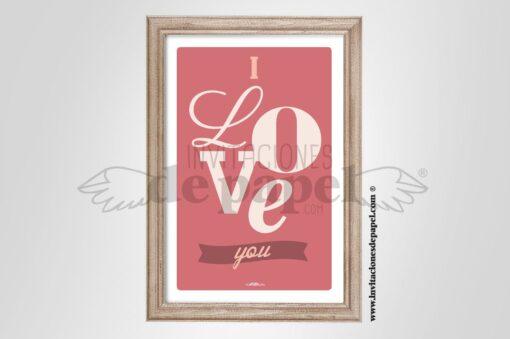 Lamina para Regalar Romantica y Vintage con varios tipos de letras
