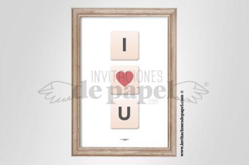 Laminas Mensaje de Amor Regalo Romantico de Pareja - Scrabble
