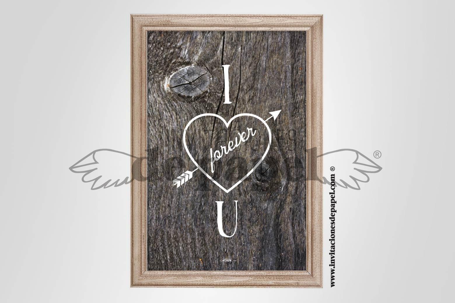 Lamina con Mensaje o Frase de Amor para tu Pareja Regalo Romantico - tronco de arbol