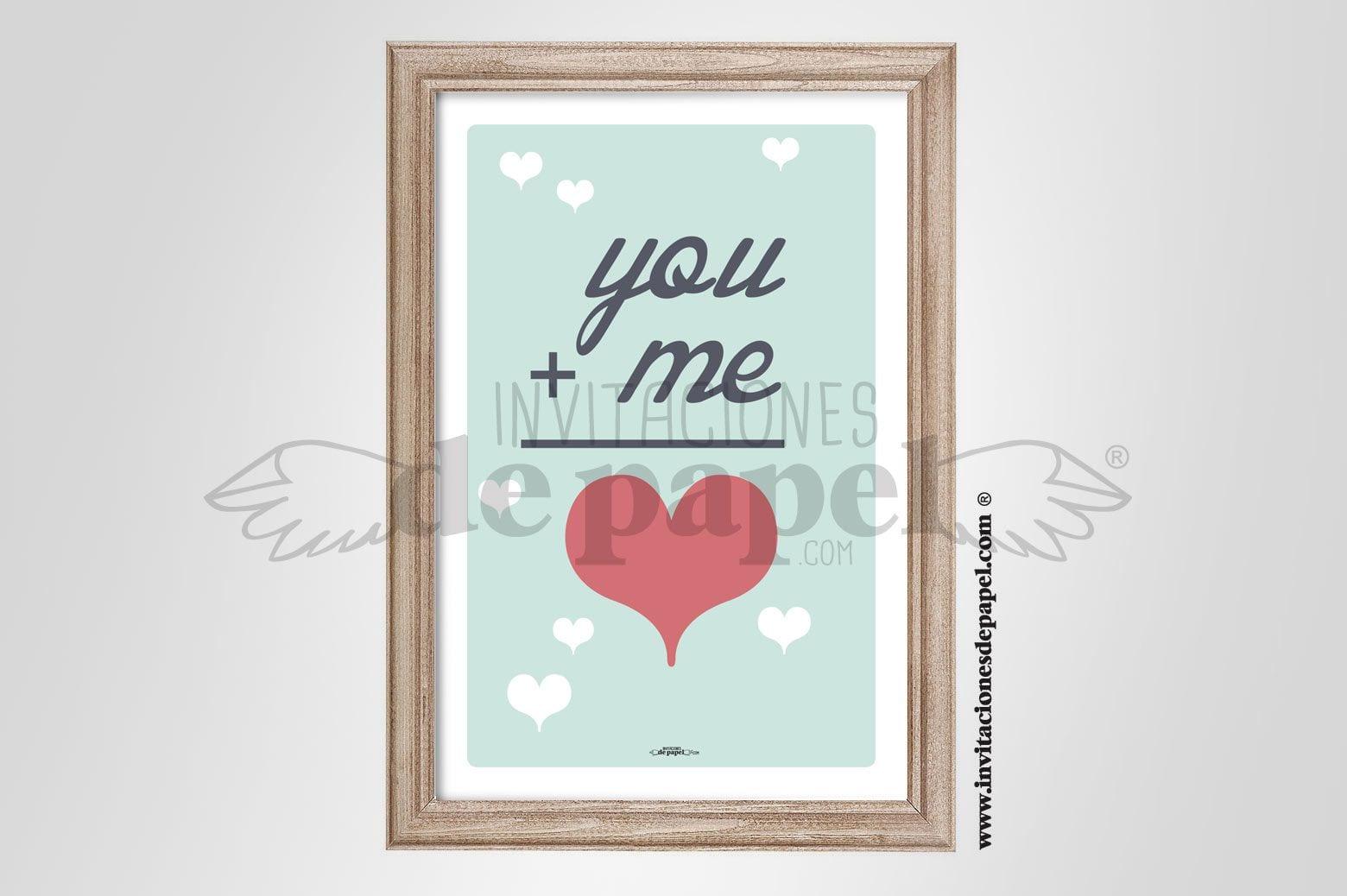 Lamina con Frase de Amor como Regalo Romántico para tu Pareja suma