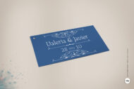 Etiquetas de Regalos de Boda tipo Vintage Años 20 - royal azul