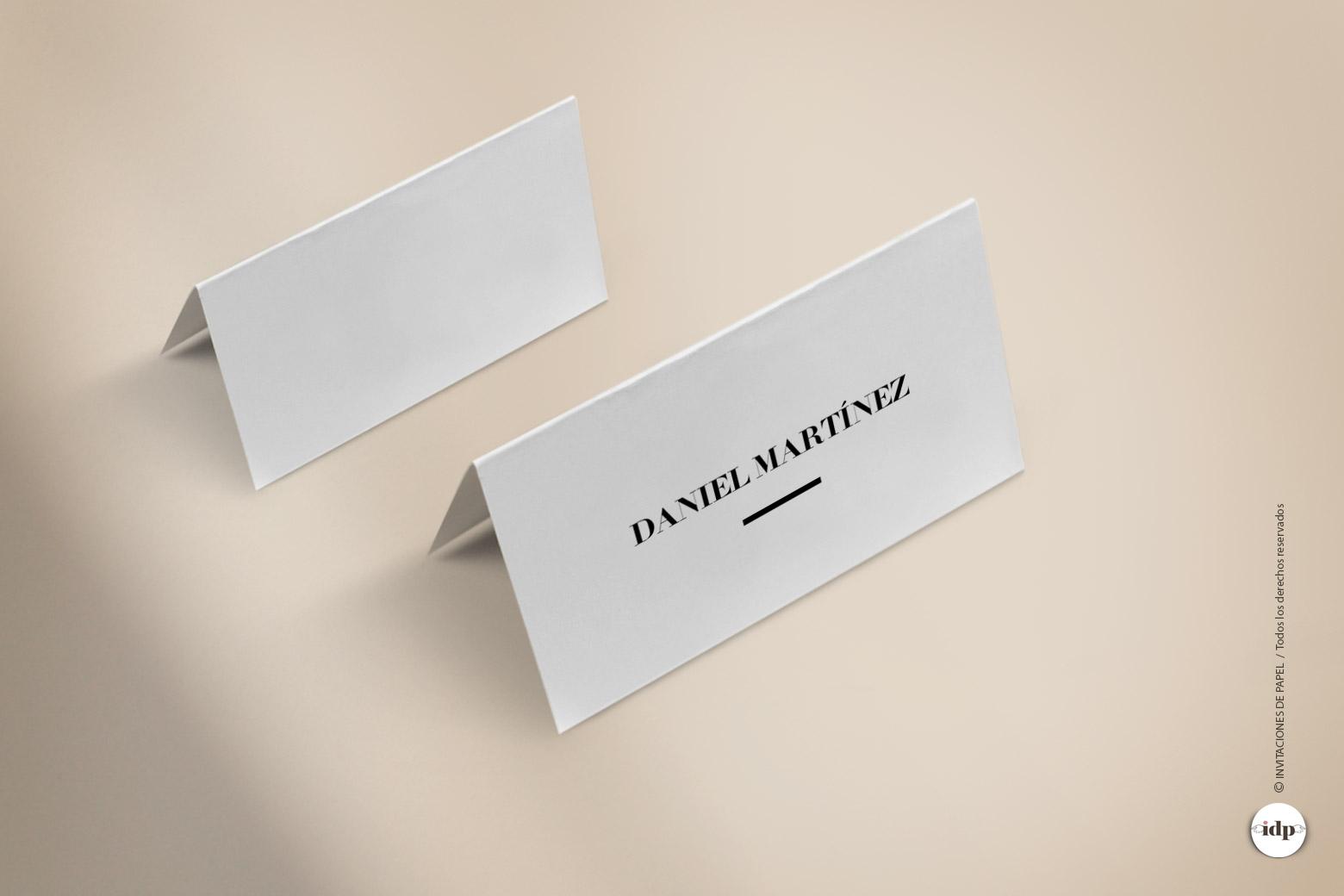 Puesto de Mesa para Boda o Marcasitio Original, Moderno y Sencillo letter
