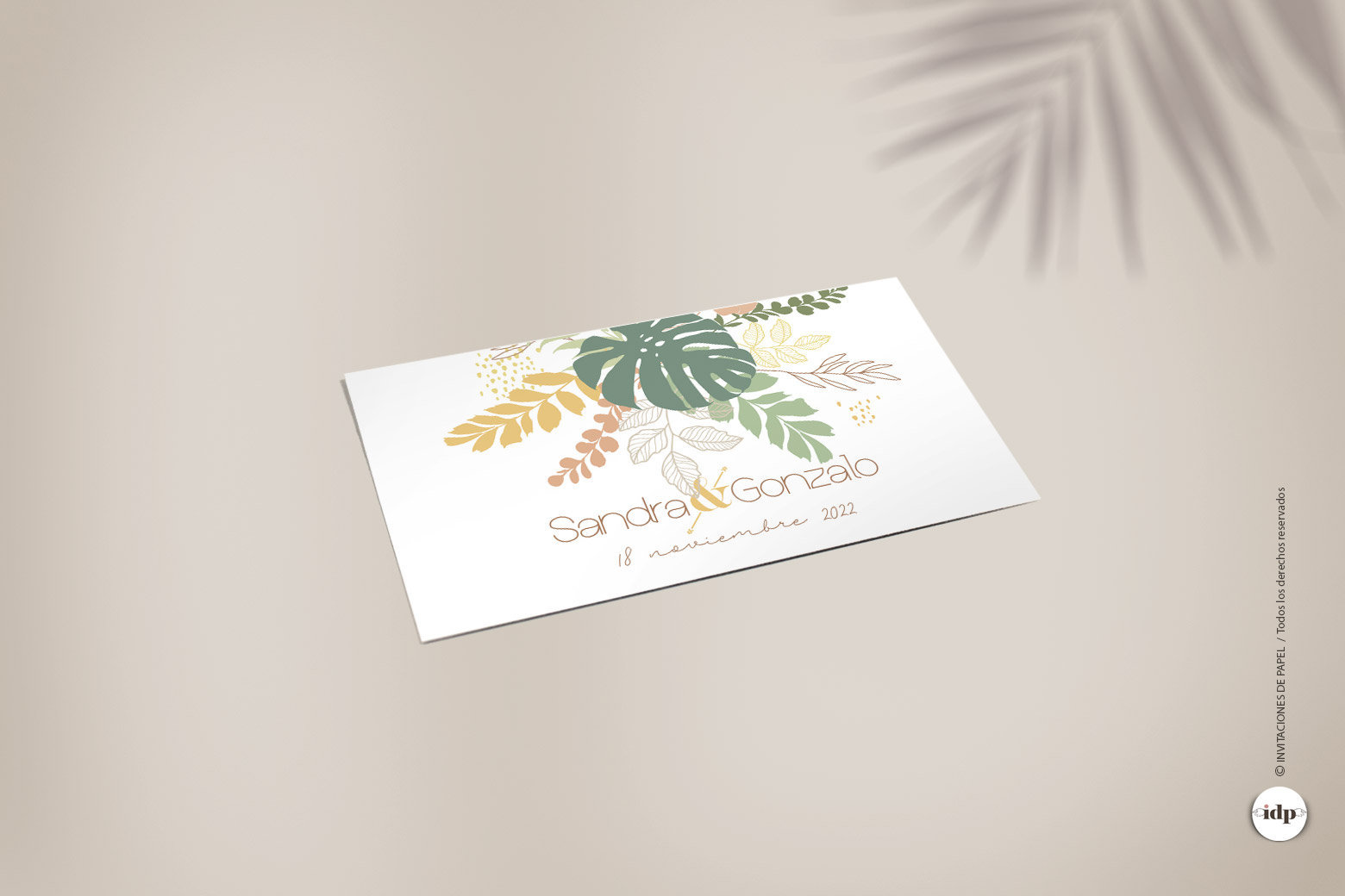 Etiqueta Adhesiva o Pegatina Tropical para Regalos de - rectangularamazonas
