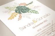 Invitaciones de Boda Tropicales en Acuarela con Hojas de Palmera