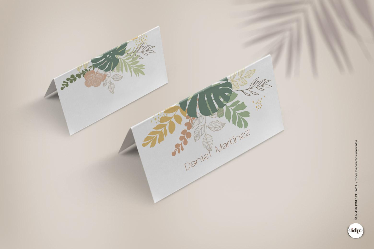 Puestos de Mesa de Boda o Marcasitios de estilo Tropical - amazonas
