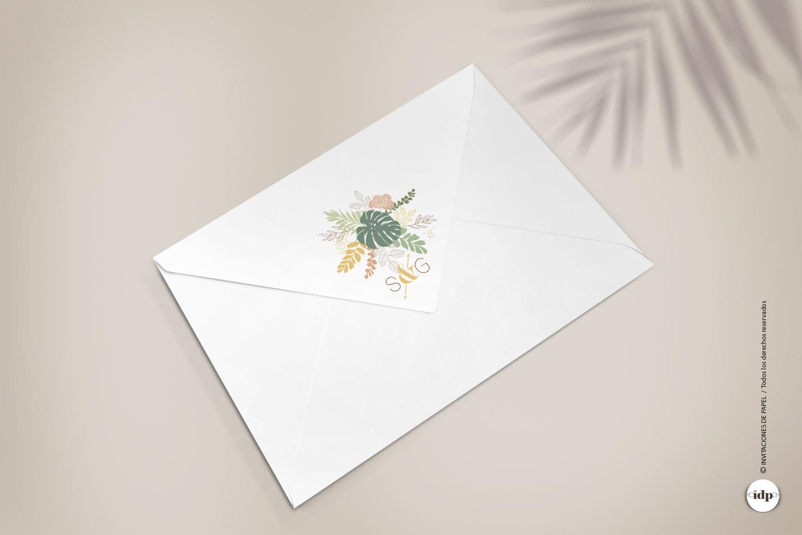 Imprimir el Logo de la Boda en la Solapa del Sobre - amazonas