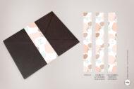 Fajines de Decoracion para el Sobre de Boda Originales en rosa palo - nordicos