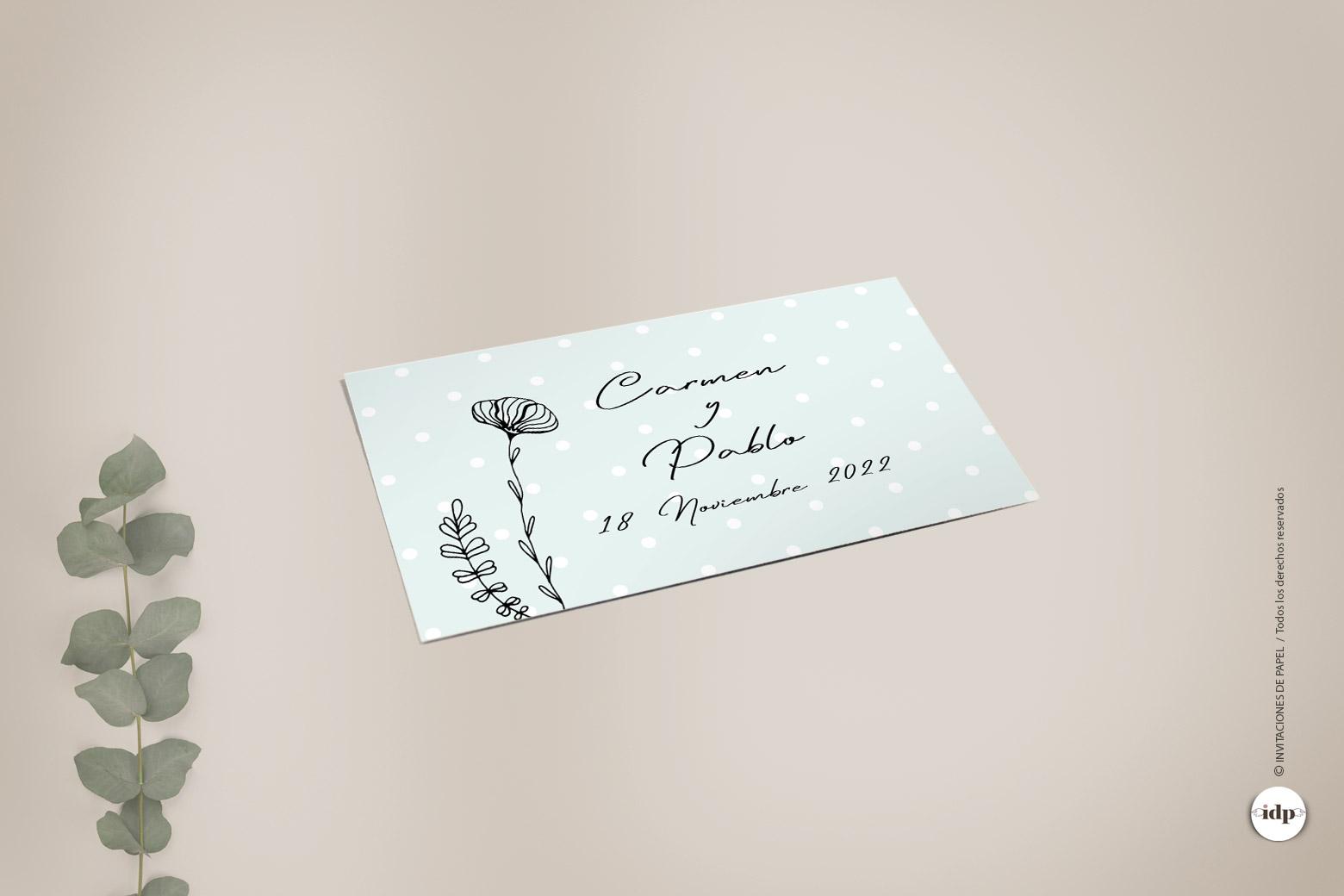 Pegatinas para los Regalos de la Boda con una Sencilla Ilustracion de Flores - chic rectangular