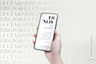 Invitaciones de Boda Digitales Originales y Sencillas- letter