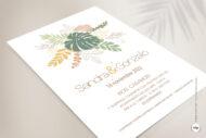 Invitacion de Boda Tropical en Acuarela - amazonas