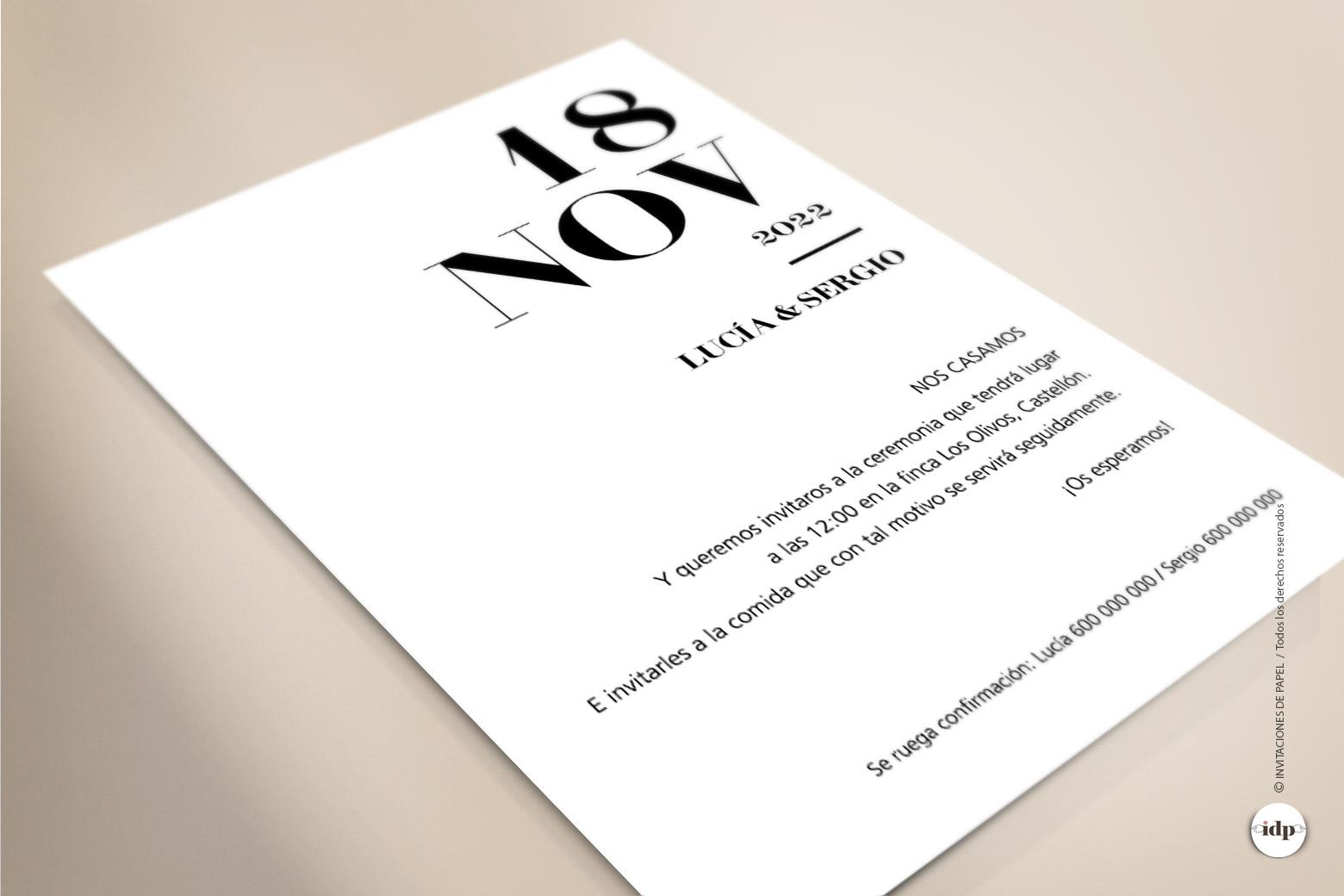 Invitaciones de Boda Originales, Diferentes y Sencillas - letter