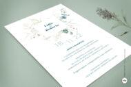 Invitaciones de Boda Sencillas en Acuarela con Hojas - vergel