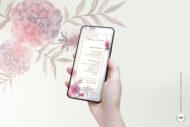 Invitaciones de Boda Digitales con Flores en Acuarela Boho Chic