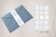 Fajines de Decoracion para Sobres de Boda de estilo Vintage en Azul - royal