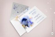 Invitaciones de Boda con Foto de los Novios Original y Sobre Decorado- lienzo